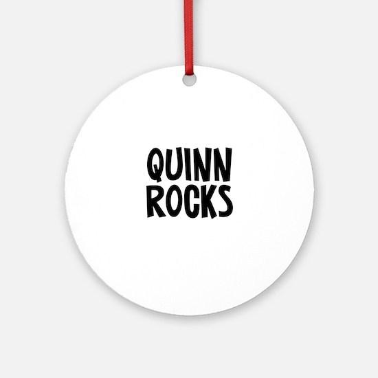Quinn Rocks Ornament (Round)