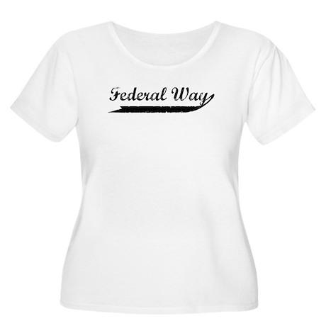 Federal Way (vintage) Women's Plus Size Scoop Neck