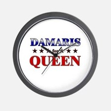 DAMARIS for queen Wall Clock