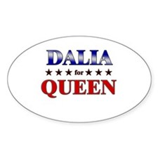 DALIA for queen Oval Decal