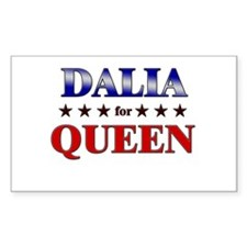 DALIA for queen Rectangle Decal