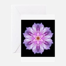 Violet Dahlia I Greeting Cards