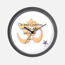 The Mind is Everything Wall Clock