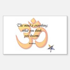 The Mind is Everything Rectangle Decal