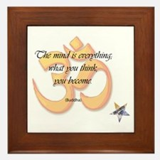 The Mind is Everything Framed Tile