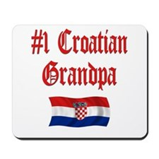 #1 Croatian Grandpa Mousepad