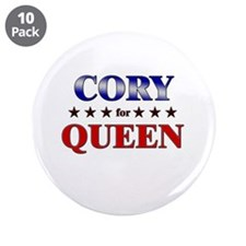 """CORY for queen 3.5"""" Button (10 pack)"""