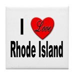 I Love Rhode Island Tile Coaster