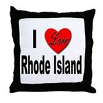 I Love Rhode Island Throw Pillow