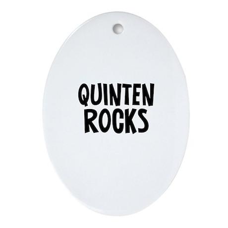 Quinten Rocks Oval Ornament