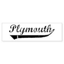 Plymouth (vintage) Bumper Bumper Sticker
