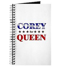 COREY for queen Journal