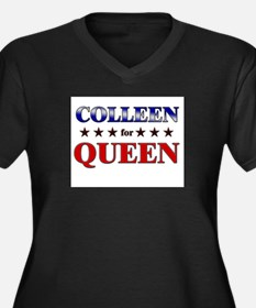 COLLEEN for queen Women's Plus Size V-Neck Dark T-