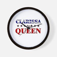 CLARISSA for queen Wall Clock