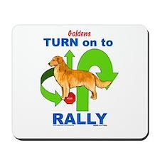 Golden Retriever RALLY Mousepad