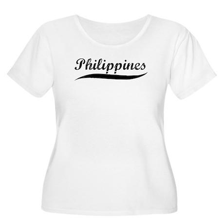 Philippines (vintage] Women's Plus Size Scoop Neck