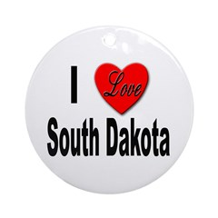 I Love South Dakota Keepsake (Round)