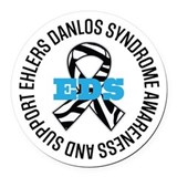 Ehlers danlos syndrome Round Car Magnets