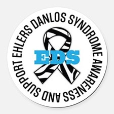 Ehlers Danlos Syndrome Ribbon Round Car Magnet