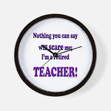 Cute Teacher retirement Wall Clock