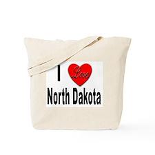 I Love North Dakota Tote Bag