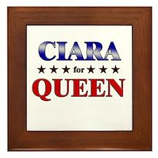 CIARA for queen Framed Tile