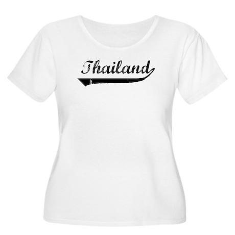 Thailand (vintage] Women's Plus Size Scoop Neck T-