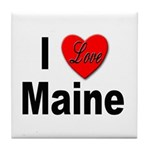 I Love Maine Tile Coaster