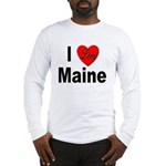I Love Maine (Front) Long Sleeve T-Shirt