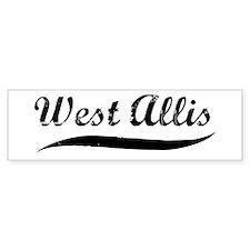 West Allis (vintage] Bumper Bumper Sticker