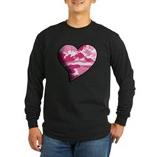 Pink Camo Swaying Solid Valentine Heart T