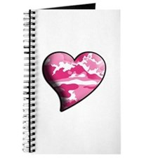 Pink Camo Swaying Solid Valentine Heart Journal