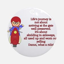 Life's Journey Scooter Ornament (Round)