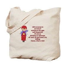 Life's Journey Scooter Tote Bag