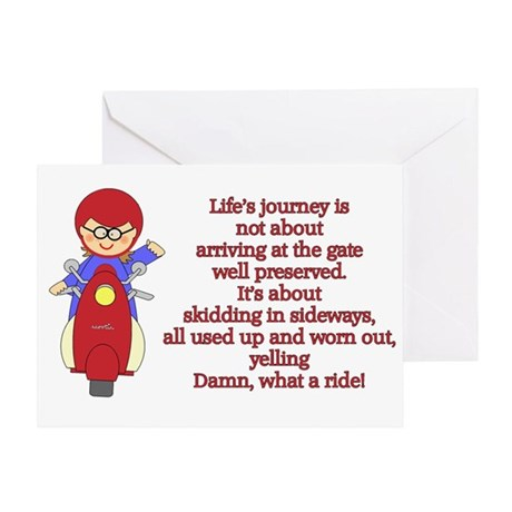Life's Journey Scooter Greeting Card