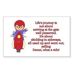 Life's Journey Scooter Rectangle Sticker