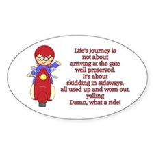 Life's Journey Scooter Oval Decal