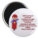 Life's Journey Scooter Magnet