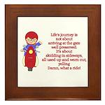 Life's Journey Scooter Framed Tile