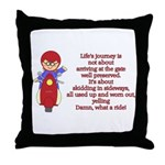 Life's Journey Scooter Throw Pillow