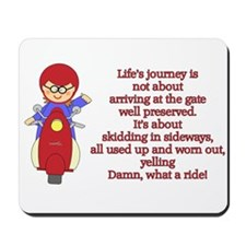 Life's Journey Scooter Mousepad