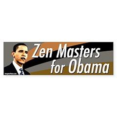 Zen Masters for Obama bumper sticker