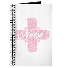 Nurse Pink Lacy Cross Journal