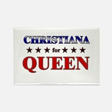 CHRISTIANA for queen Rectangle Magnet