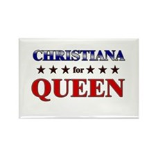 CHRISTIANA for queen Rectangle Magnet (10 pack)