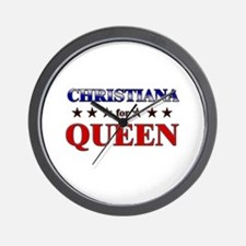 CHRISTIANA for queen Wall Clock