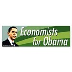 Economists for Obama bumper sticker