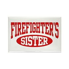 FireFighter's Sister Rectangle Magnet