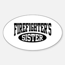 FireFighter's Sister Oval Decal