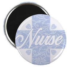 Nurse Blue Lacy Cross Magnet